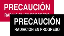 Caution X-ray Sign - Spanish