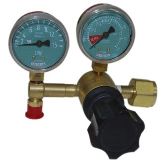 MRI Oxygen Regulator w\Flow Control Knob, Nut & Nipple