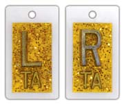 Personal Touch X-ray Film Markers - Glitter Yellow