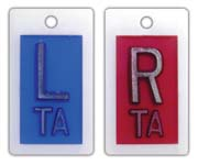 """R & L 5/8"""" Poly X-ray Film Markers"""
