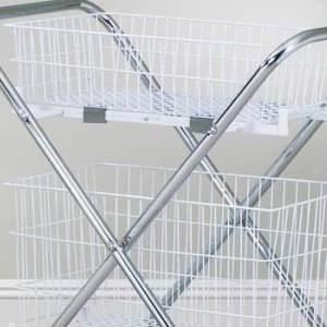 "12"" Steel Wire Basket for Folding Utility Cart"