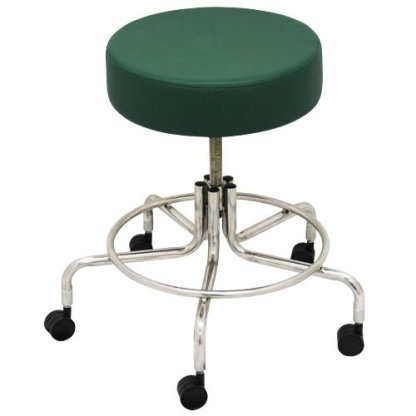 """Non-Magnetic MRI Adjustable Stool, 16"""" to 22"""" - Green"""