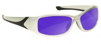 Dye, Diode and HeNe, Ruby Laser Safety Glasses- Model #808 - Silver