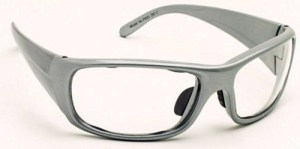 Model P820 Wrap-Around Radiation Protection Glasses - Silver