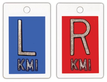 "R & L 1"" Poly X-ray Film Markers"