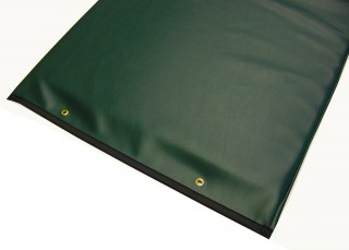 Table Pad with Reinforced Vinyl - Green