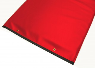 Table Pad with Reinforced Vinyl - Red