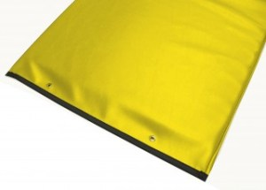 Table Pad with Reinforced Vinyl - Yellow