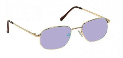 Economy Gold Metal Glassworking Safety Glasses - Phillips 202 ACE