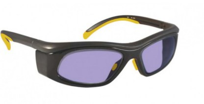 Model 206 Glassworking Safety Glasses - Phillips 202 ACE - Yellow Black with Smoke Side Shields
