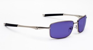 Model 116 Glassworking Safety Glasses - Polycarbonate Sodium Flare - Silver