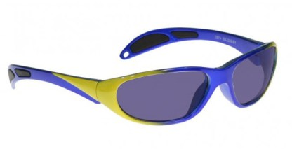 Model 208 Glassworking Safety Glasses - Polycarbonate Sodium Flare - Blue and Yellow