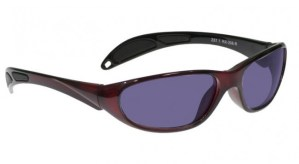 Model 208 Glassworking Safety Glasses - Polycarbonate Sodium Flare - Red