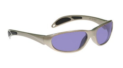 Model 208 Glassworking Safety Glasses - Polycarbonate Sodium Flare - Taupe