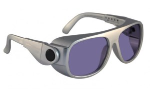 Model 66 Glassworking Safety Glasses - Polycarbonate Sodium Flare - Silver