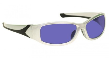Model 808 Glassworking Safety Glasses - Polycarbonate Sodium Flare - Silver