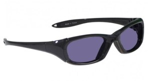 Model MX30 Glassworking Safety Glasses - Polycarbonate Sodium Flare - Black