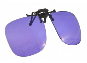 Universal Clip-On Glassworking Safety Glasses - Polycarbonate Sodium Flare