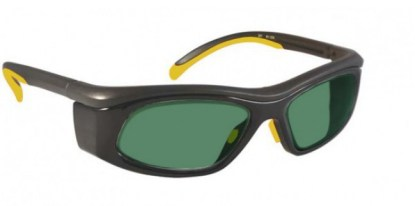 Model 206 Glassworking Safety Glasses - BoroView 3.0 - Yellow and Black with Smoke Gray Side Shields