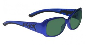 Model W200 Glassworking Safety Glasses - BoroView 3.0 - Blue and Black