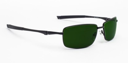 Model 116 Glassworking Safety Glasses - Green BoroView 5.0 - Black
