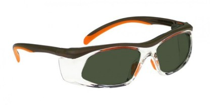 Model 206 Glassworking Safety Glasses -  BoroView 5.0 - Orange and Brown with Clear Side Shields