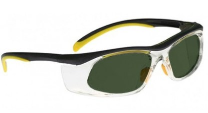 Model 206 Glassworking Safety Glasses -  BoroView 5.0 - Yellow and Black with Clear Side Shields