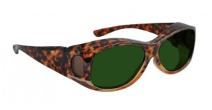 Phillips Fitover Glassworking Safety Glasses - BoroView 5.0 - Tortoise