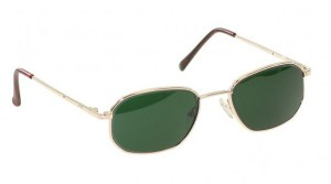 Economy Gold Metal Glassworking Safety Glasses - BoroView 5.0