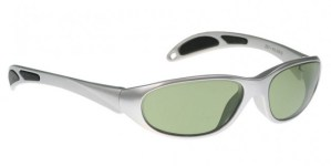 Model 208 Glassworking Safety Glasses - Light Green Filter - Silver