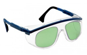 Uvex Patriot Frame USA Model Glassworking Safety Glasses - Light Green Filter