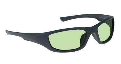 Model 703 Glassworking Safety Glasses - Light Green Filter - Charcoal Gray