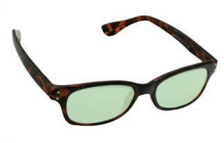 Barlow Glassworking Safety Glasses - Light Green Filter - Tortoise
