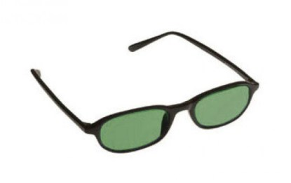Downtown Designer Glassworking Safety Glasses - Light Green Filter - Black