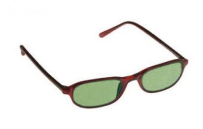 Downtown Designer Glassworking Safety Glasses - Light Green Filter - Burgundy