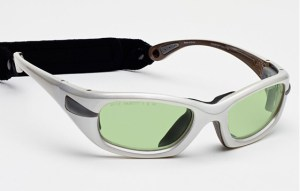 Model EGM Glassworking Safety Glasses - Light Green Filter - White