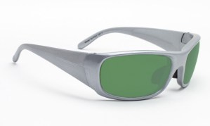 Model P820 Glassworking Safety Glasses - Light Green Filter - Silver