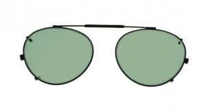 Round Clip-On Glassworking Safety Glasses - Light Green Filter