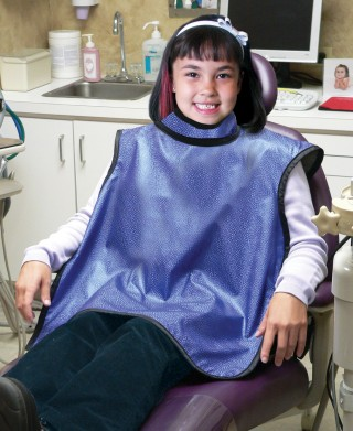 Pediatric Dental Guard X-ray Apron w/Collar