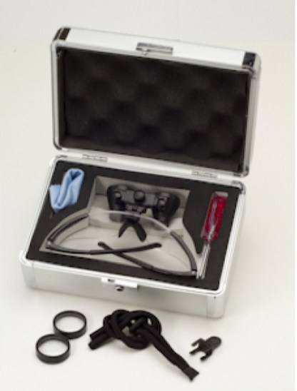 Titanium Frame Dental Loupes, 5x-6x Case and Accessories