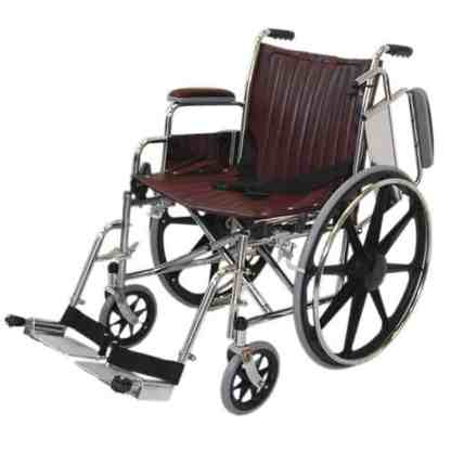 """18"""" Wide Non-Magnetic MRI Wheelchair w/ Flip Back Arms and Detachable Footrests"""
