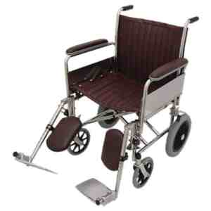"""20"""" Wide MRI Non-Magnetic Transport Chair w/ Detachable Elevating Legrests"""