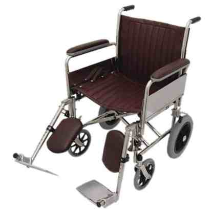 "20"" Wide MRI Non-Magnetic Transport Chair w/ Detachable Elevating Legrests"
