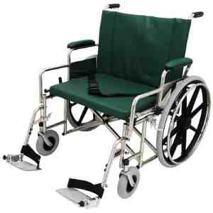 "24"" Wide Non-Magnetic MRI Bariatric Wheelchair w/ Detachable Footrests"