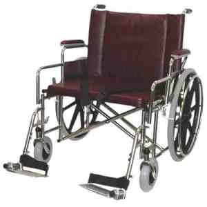 """26"""" Wide Non-Magnetic MRI Bariatric Wheelchair w/ Detachable Footrests"""