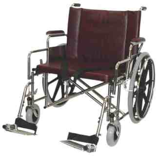 "26"" Wide Non-Magnetic MRI Bariatric Wheelchair w/ Detachable Footrests"
