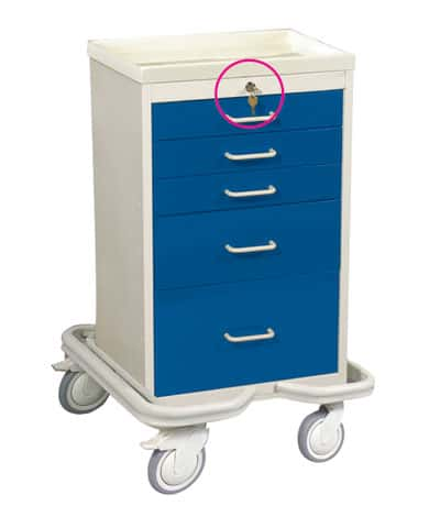5 Drawer Anesthesia Mini Tower with Key Lock - MAT-524