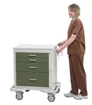 Emergency Crash Cart - Low Profile - Standard 4 Drawer