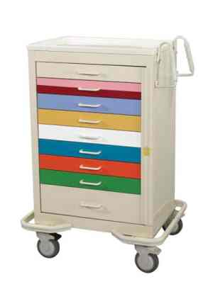 Pediatric Emergency Crash Cart - Standard 9 Drawer