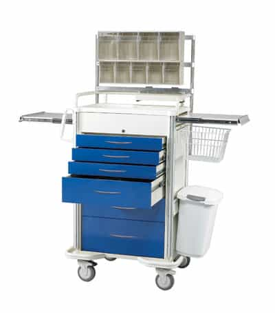 Select Series 6 Drawer Locking Anesthesia Cart - SAP-A Package